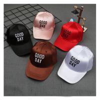 女童刺绣字母鸭舌帽儿童棒球帽潮款男孩女孩出游遮阳帽子