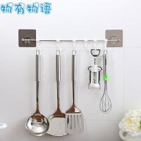 物有物语 挂钩 家居日用不锈钢置物架六组厨房餐具强力无痕挂钩贴 厨房用品