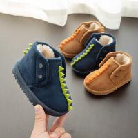 儿童时尚雪地靴男童女童0-1-2小童3靴子宝宝冬鞋婴儿加厚短筒棉鞋童鞋
