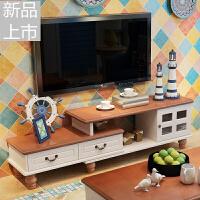 地中海电视柜茶几组合美式乡村烤漆地柜现代简约小户型客厅家具定制定制 组装