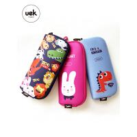 UEK儿童小学生笔袋文具盒韩版可爱卡通3D零钱包收纳化妆包大容量