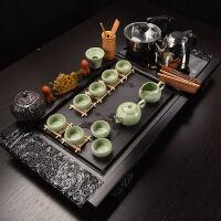 功夫茶具套装家用全自动实木茶盘托盘紫砂泡茶壶茶杯陶瓷配件 茶具