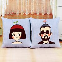 客厅卧室卡通动漫十字绣抱枕十字绣新款抱枕情侣一对简单绣