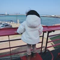 梦幻萝莉兔绒加厚棉袄外套 女童棉袄加厚加绒洋气外套