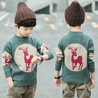 冬季半高领毛衫中大童加厚保暖上衣潮儿童毛衣男童针织衫