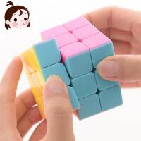 儿童实色三阶魔方益智减压神器学生成人初学者顺滑比赛专用玩具