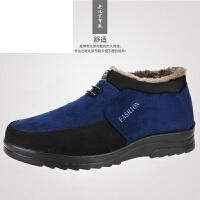老北京布鞋男款冬季棉鞋防滑保暖45 46 47 48大码男士休闲男鞋