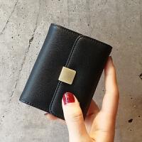 真皮卡包女式多卡位韩国可爱卡片包女士专享个性简约迷你小巧卡夹 黑色 现货