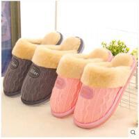 棉拖鞋时尚男女冬情侣保暖家居厚底室内可爱卡通月子毛毛拖鞋冬季