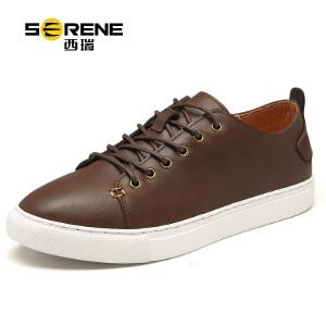 西瑞夏季板鞋男士韩版透气休闲鞋牛皮鞋新款百搭青年复古潮鞋6339