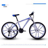 山地车自行车21/24/27速男女双减震赛车碟刹变速学生单车新品