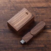 实木质创意木制u盘32g礼物公司个性商务礼品纪念品定制印logo刻字