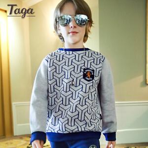 TAGA   春秋款童装男童长袖套装儿童中大童两件套