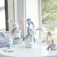 北欧可爱俏皮小兔子摆件车载摆件公仔汽车装饰用品