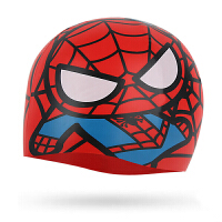 DISNEY 迪士尼新款儿童硅胶泳帽炫酷蜘蛛侠版防水护耳舒适童泳帽