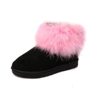 O'SHELL法国欧希尔新品冬季165-1913韩版磨砂绒面平跟女士雪地靴