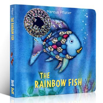英文原版 The Rainbow Fish 彩虹鱼 纸板书 凯特·格林纳威奖 3-6岁绘本读物