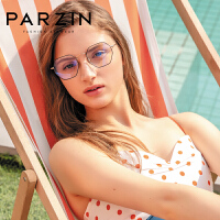 帕森2019新款防蓝光眼镜架女金属多边形眼镜框男电脑护目镜15756