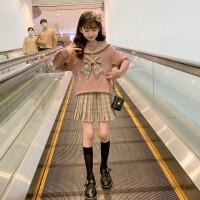 女童春装套装洋气儿童学院风时尚套装裙中大童两件套