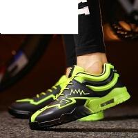 皮面运动鞋男士休闲鞋春季韩版潮流跑步鞋学生潮鞋超波鞋男