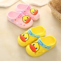宝宝拖鞋夏1-3岁2男童女童防滑包头家居儿童洞洞鞋婴儿幼儿凉拖鞋