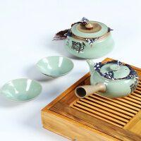 尚帝 精品哥窑汝窑茶具 可养开片套装 功夫茶具套装 必备特价DTYJD4K58