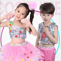 六一儿童节演出服幼儿园舞蹈服装女童蓬蓬裙少儿爵士舞亮片表演服