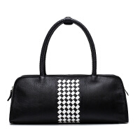 女包2017新款包包女波士顿包女士手提包韩版时尚百搭斜挎包枕头包 黑色