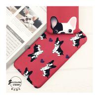 【包邮】智尚 韩国斗牛犬iphone6S手机壳卡通硅胶苹果6Plus保护套情侣