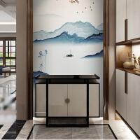 新中式玄关柜储物柜实木门厅鞋柜过道走廊装饰柜现代家具定制 玄关柜 整装 箱框结构