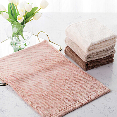 奇居良品 安妮尔纯色毛巾2件套礼盒 加厚柔软吸水洗脸面巾套装