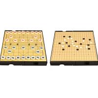 中国象棋套装磁性折叠双面棋实木象棋十九路围棋 木制双面棋盘 友邦大棋盘2合1