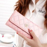 2018品牌钱包女软皮时尚韩版女士长款钱包皇冠多卡位手拿皮夹钱包
