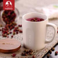 tomic特美刻 带盖勺马克杯大容量创意可爱简约陶瓷咖啡水杯子定制