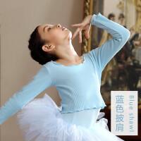 儿童舞蹈服小外套长袖芭蕾舞裙披肩女童幼儿考级练功服坎肩