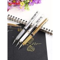 三菱高光笔水彩颜料高光笔留白笔UM-153金银白色黑纸用油漆笔中性笔记号笔 婚礼会议手绘签名笔1.0mm