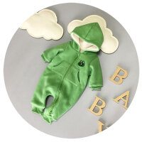 婴儿衣服冬季男女宝宝连体衣秋冬加厚抓绒6-9-12个月外出可开裆潮
