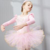 儿童舞蹈服装女童长袖芭蕾舞裙幼儿练功服少儿体操
