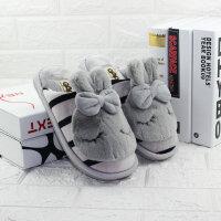 包邮棉拖鞋酷趣冬季男女情侣居家日系拖鞋冬保暖防滑加厚包跟拖鞋