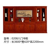 文件柜木质落地柜档案柜子油漆实木皮资料柜办公室书柜办公家具 420mm