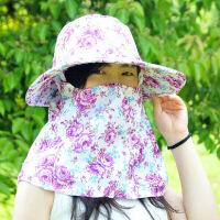红兔子 韩版户外防紫夏防紫外线防晒帽女士遮阳帽沙滩帽采茶帽
