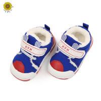 户外运动保暖鞋子韩版男女宝宝加绒学步鞋儿童防滑棉鞋