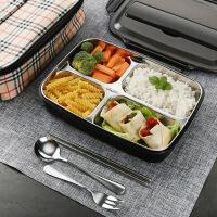 便当盒防烫不锈钢饭盒保温带盖快餐盘学生上班族餐盘分格密封快餐