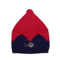 户外卡通针织毛线帽护耳男女孩套头保暖帽子婴幼儿帽子