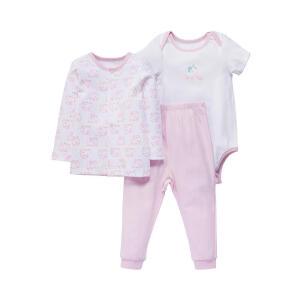 【加拿大童装低至19元】【加拿大童装】春季纯棉男女宝宝纯棉内衣套装3件套