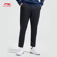 李宁卫裤男士新款训练系列长裤裤子男装冬季平口针织运动裤AKLN863