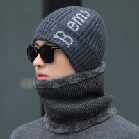 针织帽骑车护耳套头帽学生包头韩版男士帽子保暖毛线帽男