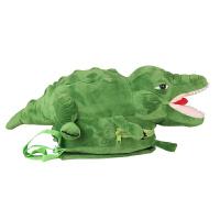 幼儿园书包男女童儿童双肩包大嘴鳄鱼卡通毛绒玩具小背包休闲包包 绿色