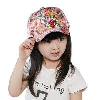 韩版时尚潮太阳鸭舌帽男童女童嘻哈棒球帽儿童帽子遮阳防晒大童