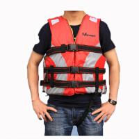 救生衣 成人安全保证 钓鱼漂流衣 充气船 红色